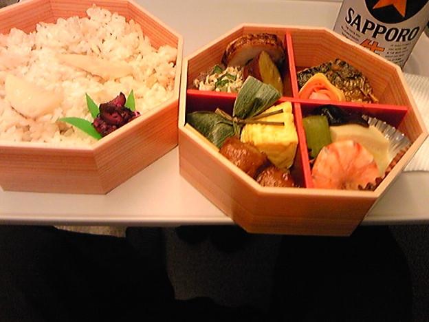 写真: タケノコご飯400 円引