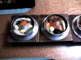 鯛釜飯と五目釜飯