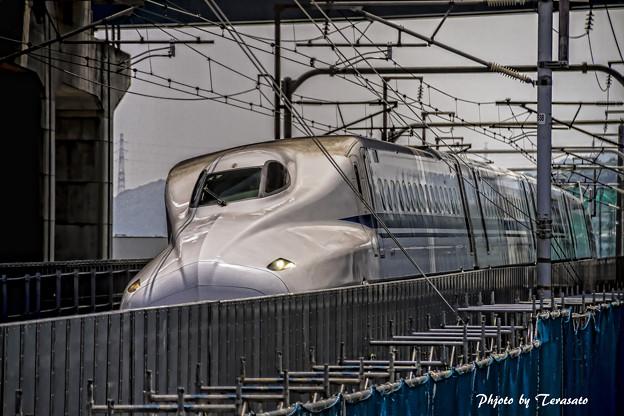 東海道新幹線大山崎JCT付近