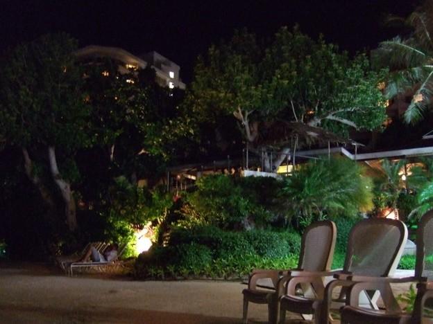 夜のヒルトングアムリゾート