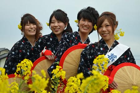 菜の花の笑顔×4