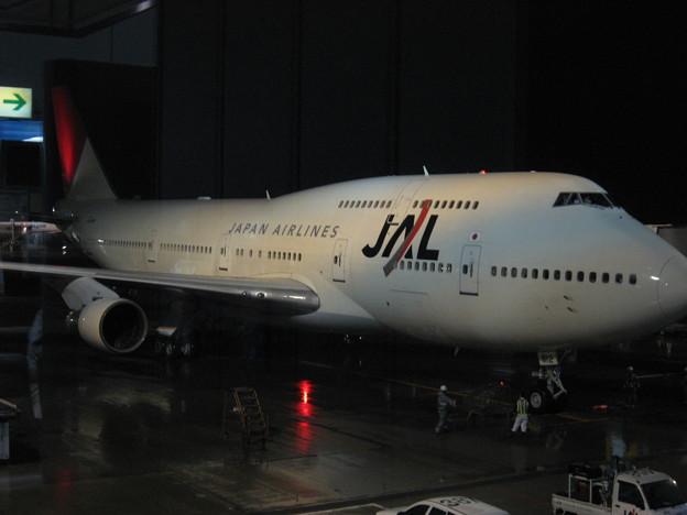 写真: 成田からこの飛行機でハワイへ