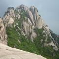 蓮花峰 今回登れず 一線天から眺望