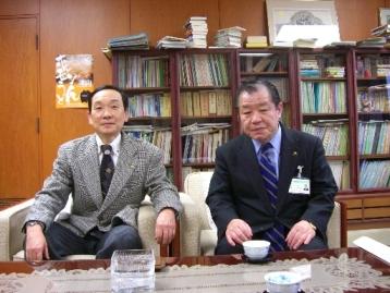 桑山博之津山市長と懇談2009.2.5