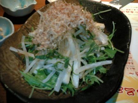 三年ぶた蔵 池袋豚舎 長芋・大根のサラダ