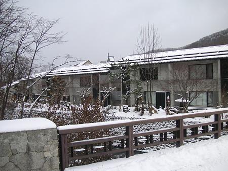 小樽旅亭 蔵群 朝里川からの外観