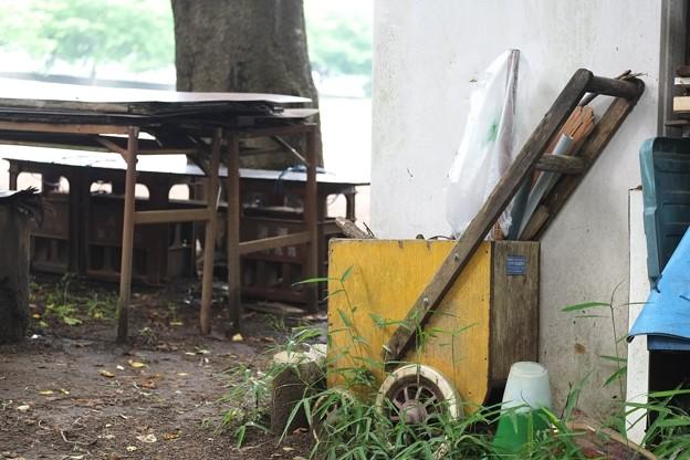 2014.06.09 瀬谷市民の森 グランド 四輪式ライン引き