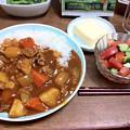 Photos: ハヤシライスとサラダ