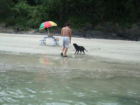 我が家のプライベートビーチみたい
