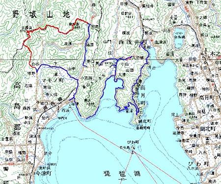 20080614高島トレイル(マキノ-国境)20万分の1