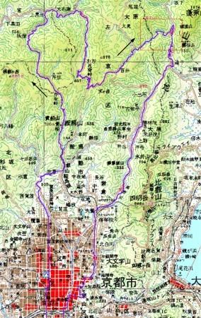 20070701芹生峠・花脊峠・百井峠・花折峠チャリトレ