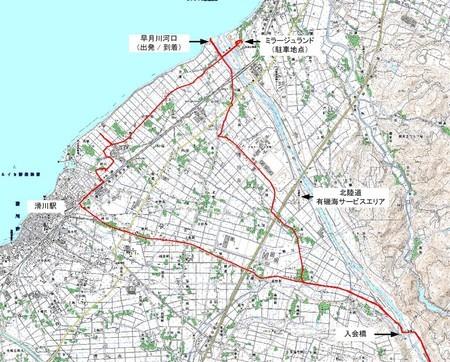 20070929日本海-剱岳出発地点付近地図