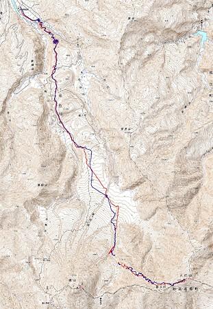 20080406笹倉温泉 - 焼山北面台地 - 火打山山スキー  GPSログ