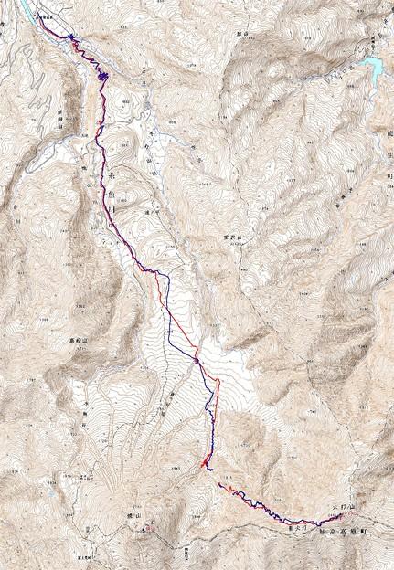 写真: 20080406笹倉温泉 - 焼山北面台地 - 火打山山スキー  GPSログ