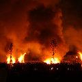 写真: 左義長/火祭りの始まり!