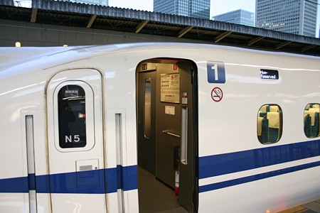 N700系は1号車から乗車