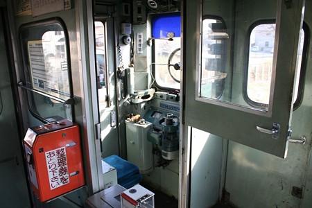 ひたちなか海浜鉄道・キハ22形の運転台付近