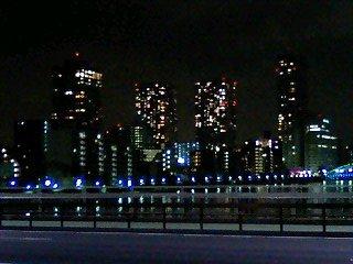 081229 佃大橋から望む 晴海のビル街
