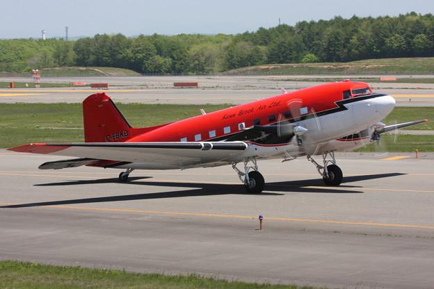 BT-67 C-FBKB is taxiing towards Canada