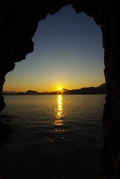 厳門の夕陽