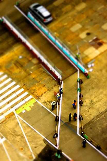 Photos: 仮歩道
