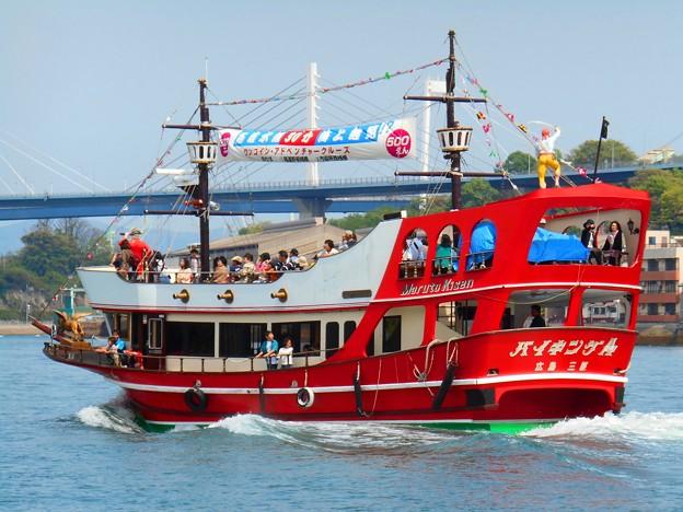 GWのしまなみ海道:尾道水道を海賊船に乗ってアドベンチャークルージング♪