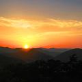 写真: 千光寺公園展望台から眺めた瀬戸の夕日