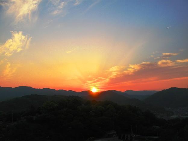 さつき亭から観た瀬戸の夕日-10