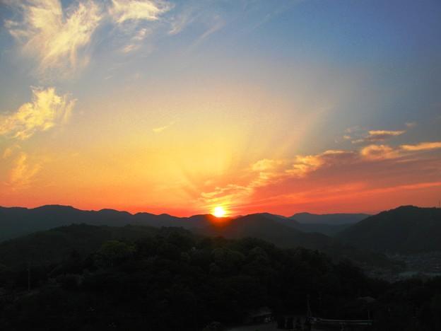 さつき亭から観た瀬戸の夕日-9