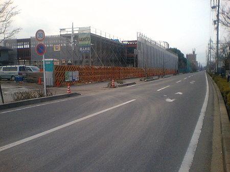 カネスエ北園通店 2009年4月完成予定で工事中