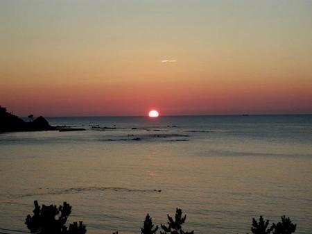 日本海の落陽