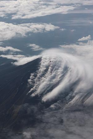 高度8700mから見た富士山
