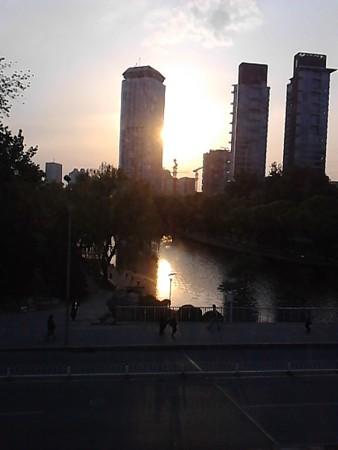 4.21夕焼け北京