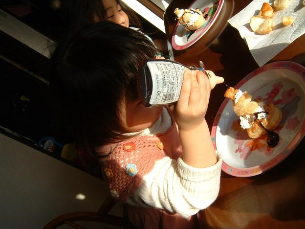 3歳児だってチョコパイ作り!