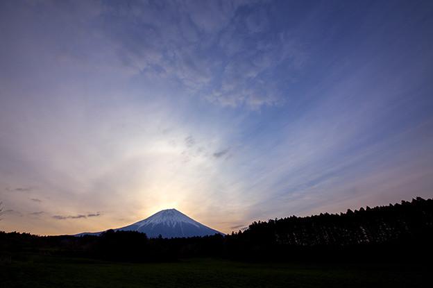 富士山と日輪