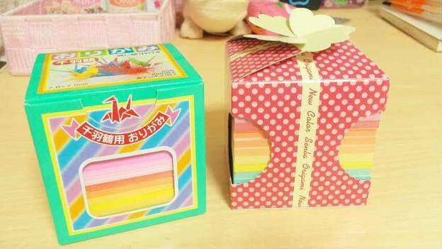 ハート 折り紙 折り紙 千羽鶴 : photozou.jp