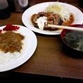 写真: 鮪の尾肉ステーキ・セット@洋食たけだ