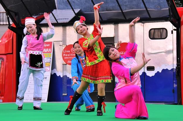 横浜中華街での春節イベント 中国舞踊?・・20140202