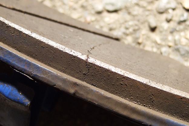 ブレーキパッドのひび割れ2