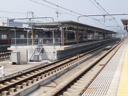 福知山駅は高架駅となり新しくなった