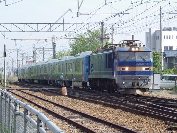 EF510‐501牽引 733系甲種輸送