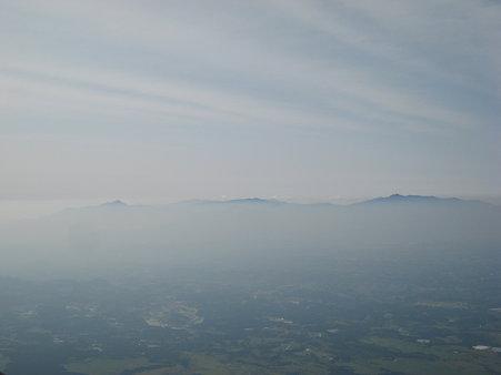 久住山山頂からの望む阿蘇山群